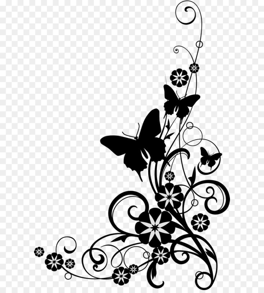 Japanese Border Designs Clip Art Flower Pattern Vector Png