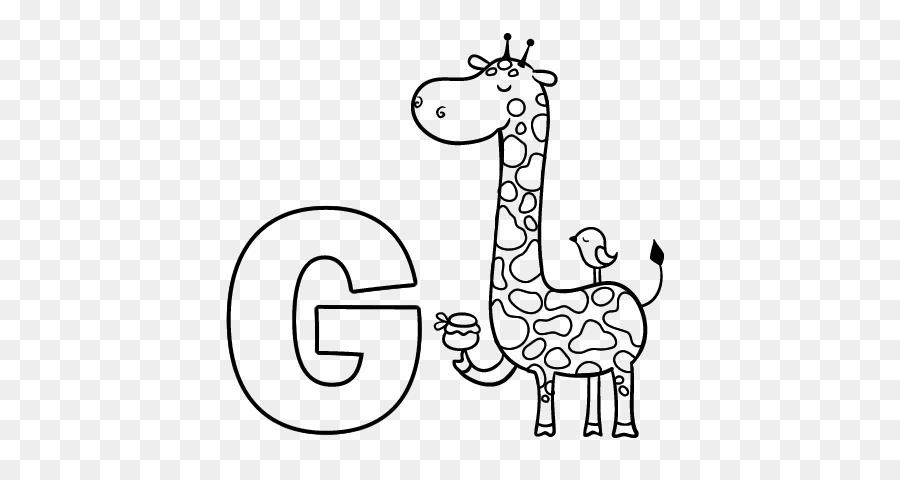 J çizim Alfabesi Boyama Kitabı Mektup Zürafa Bir Mektup Png Indir