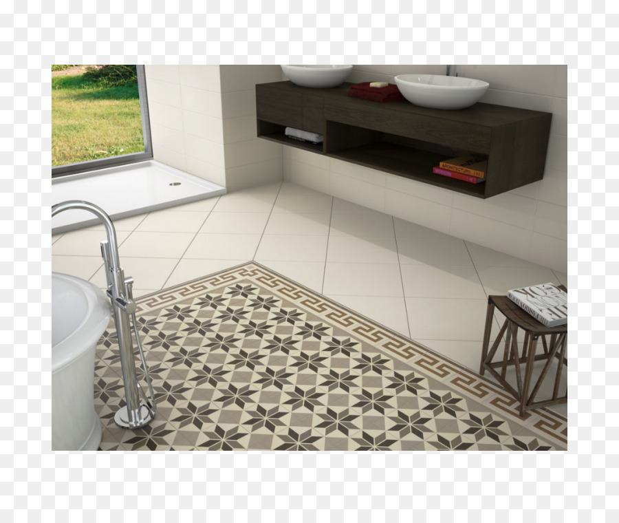 Cement Tile Ceramic Tile Choice Floor Others Png Download - Ceramic tile that looks like cement tile