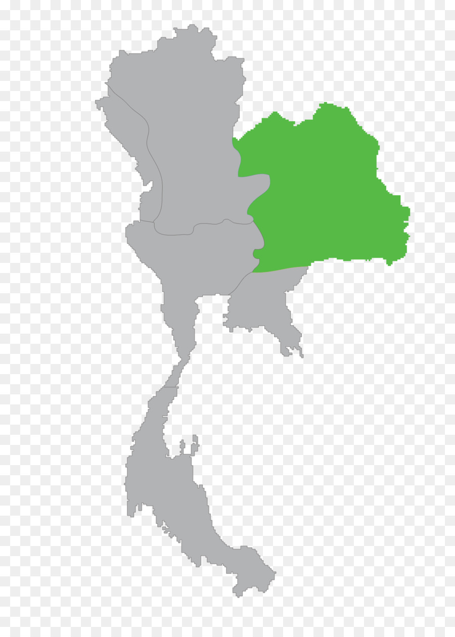 Thailand Vector Map - north east png download - 1396*1942 - Free ...