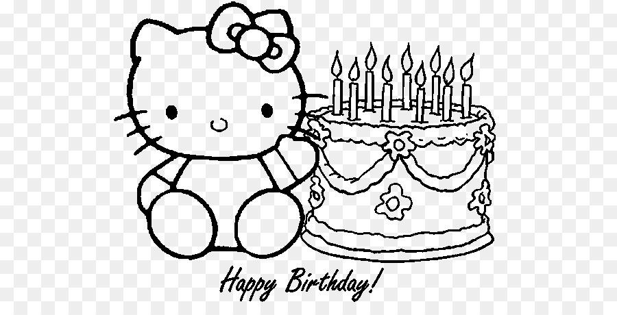 Hello Kitty Boyama Kitabı Doğum Günü çizim Mutlu Doğum Günü