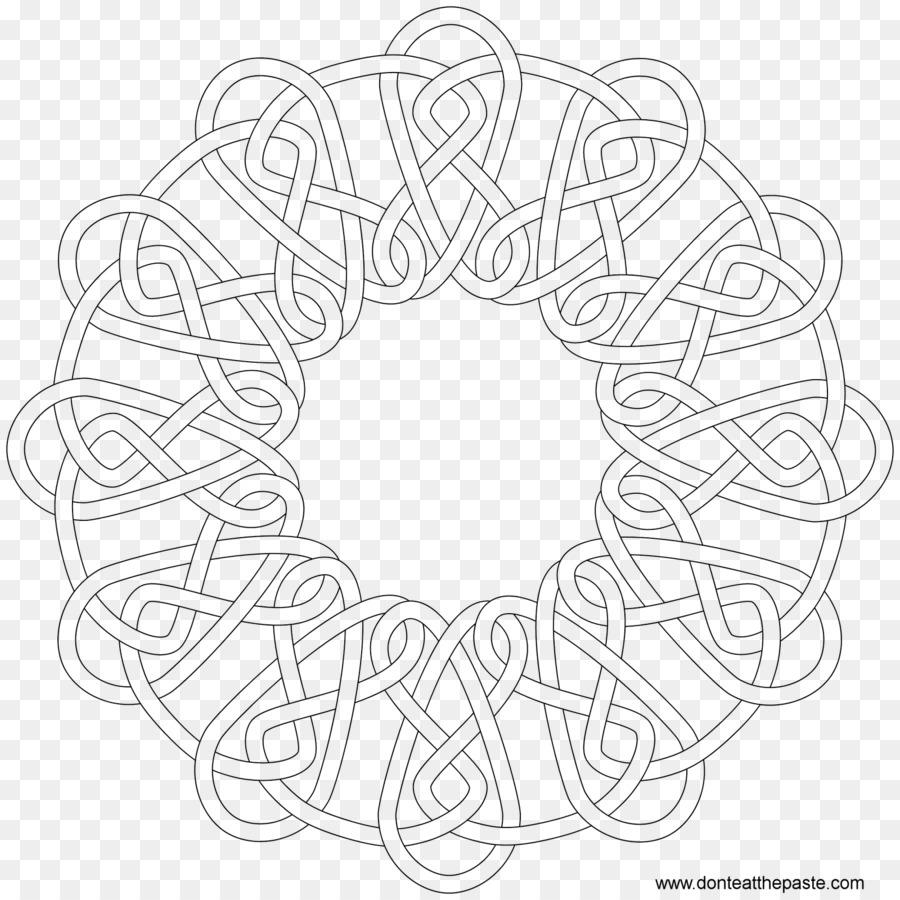 Nudo celta libro para Colorear Patrón de Bordado - patrón de ...