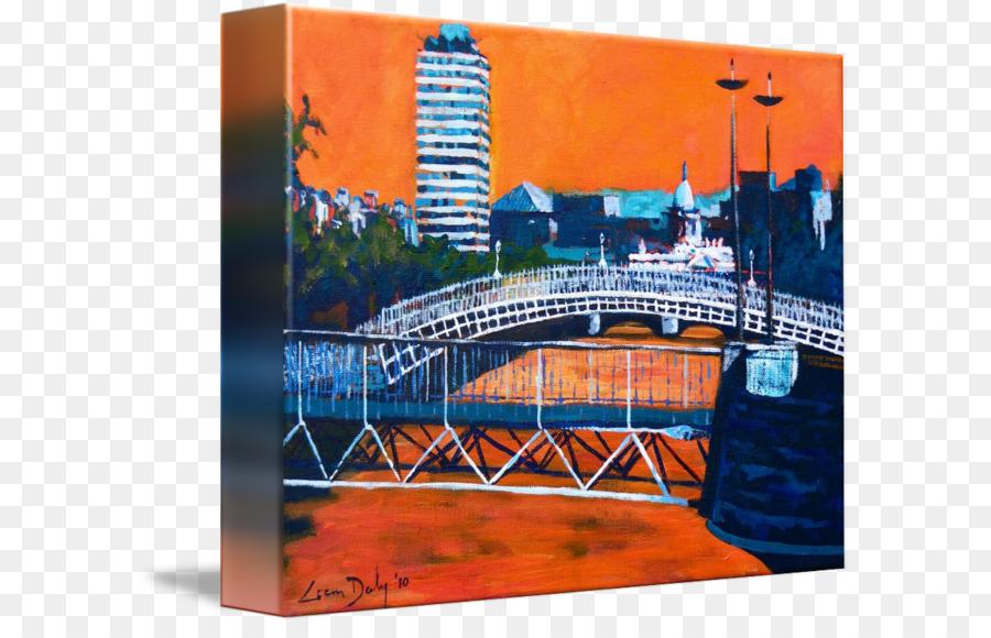 Ha\'penny Bridge Liffey Gallery wrap Picture Frames Canvas - Bridge ...