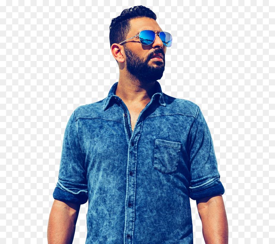 Yuvraj Singh Youwecan Denim Dress Shirt T Shirt Yuvraj Singh Png