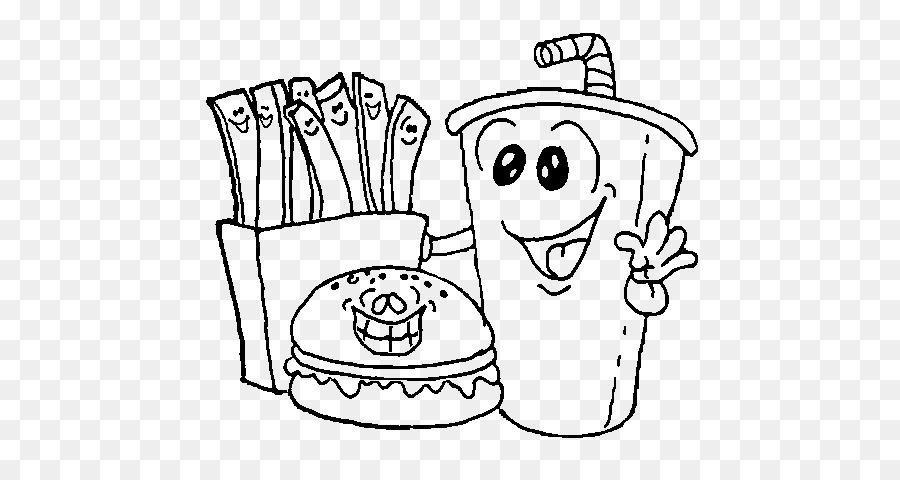 Fast food Hamburger Food coloring Coloring book - food colouring png ...