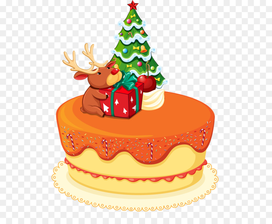Christmas Cake Birthday Cake Santa Claus Christmas Png Download