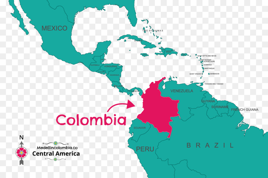 Colombia Medellín World map - where\'s wally png download - 1200*800 ...