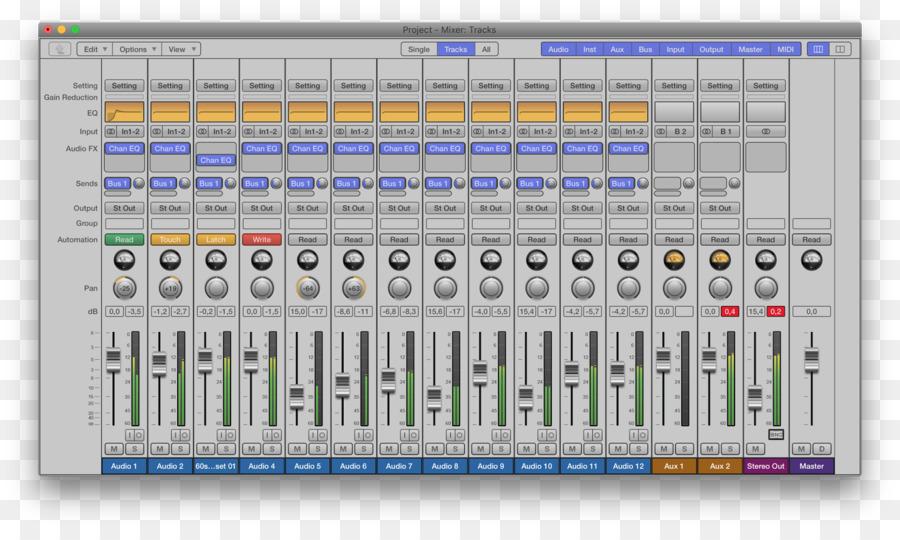 Audio-Mixer In Logic Pro Computer-Software Sound Engineer