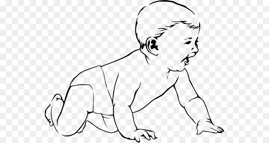Infant Child Crawling Diaper Clip Art