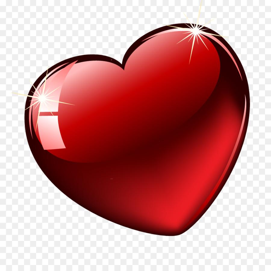 Hati Bersinar Hari Valentine Jantung Unduh Merah Jantung Cinta
