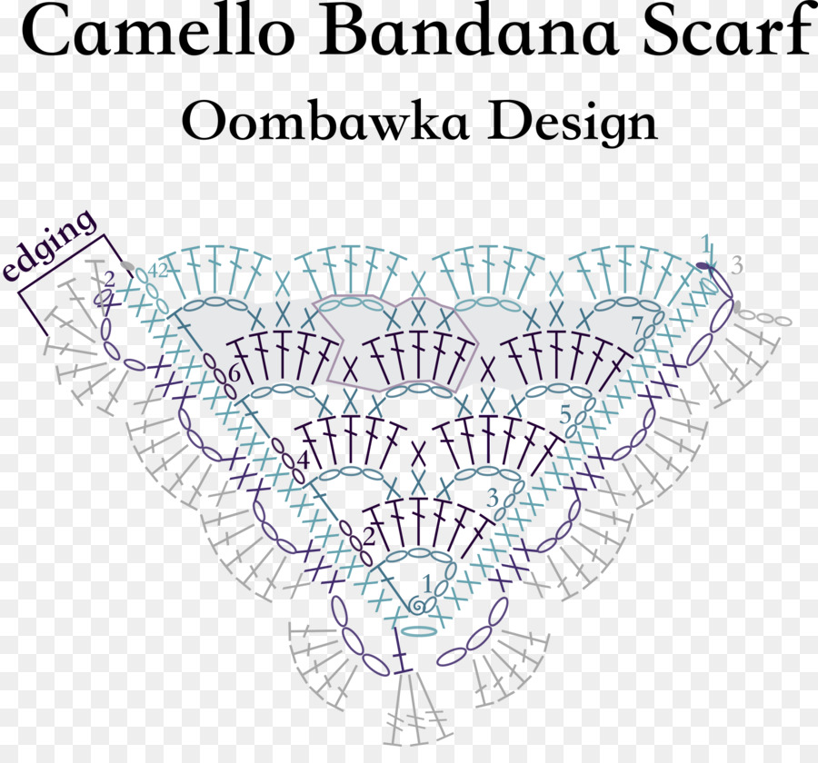 Scarf Crochet Kerchief Pattern Triangle Stitching Png Download