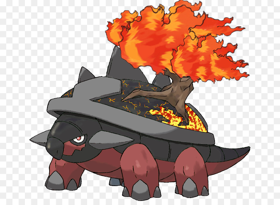 Torterra Pokémon Abenteuer Grotle Turtwig Teufel Feuer Png