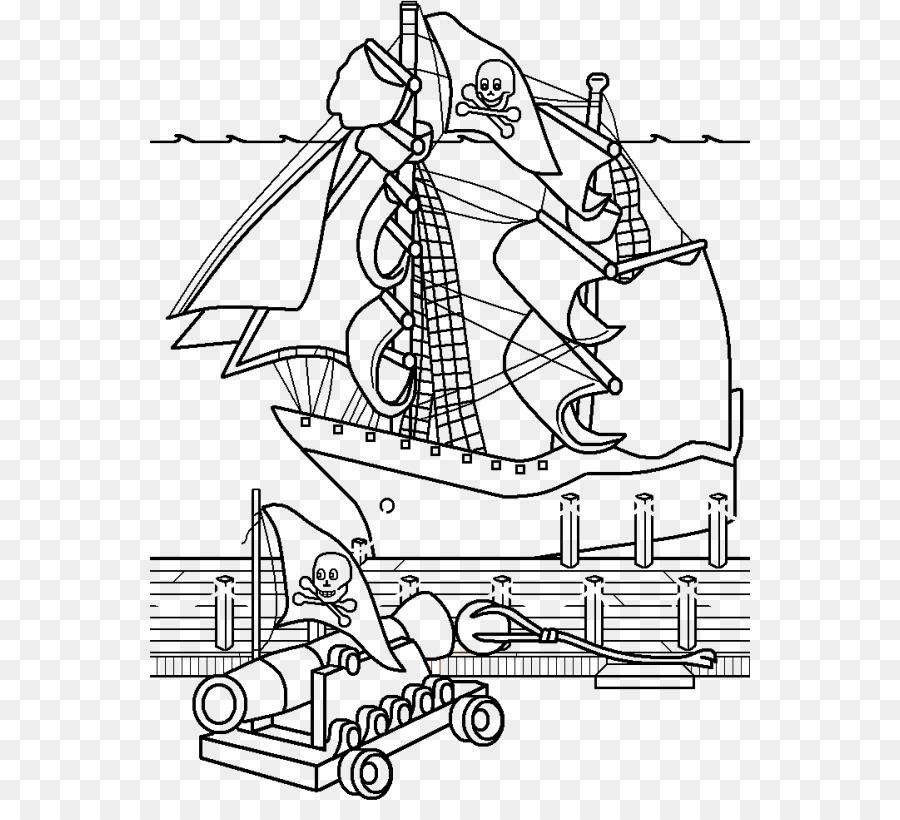 Libro para colorear de Cruceros de Dibujo para Adultos - pirata ...