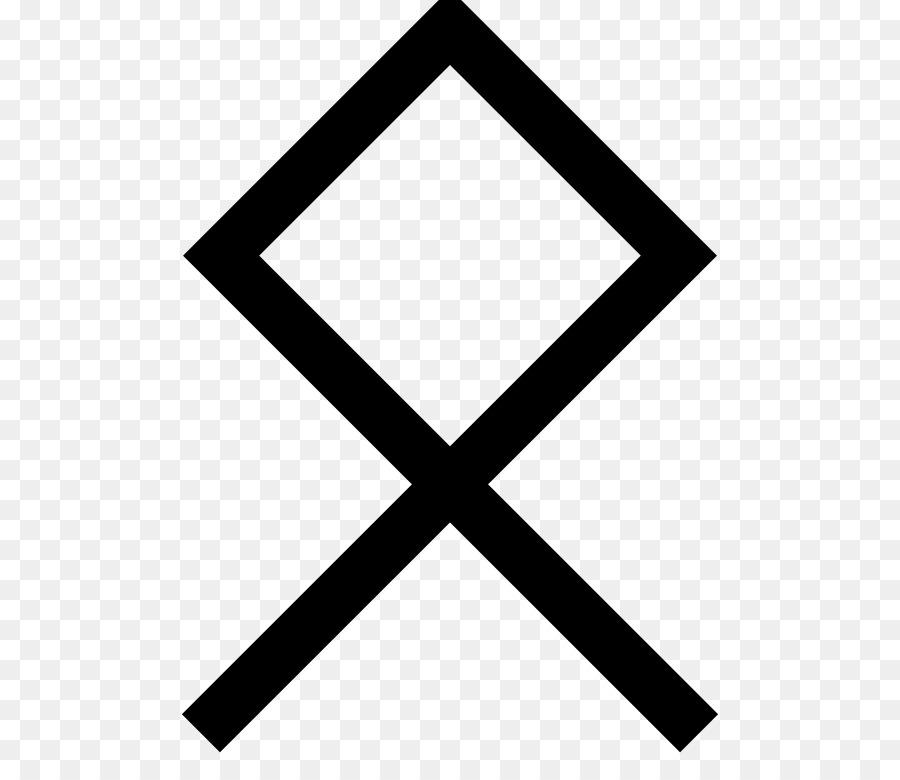 Odal Anglo Saxon Runes Elder Futhark Symbol Symbol Png Download