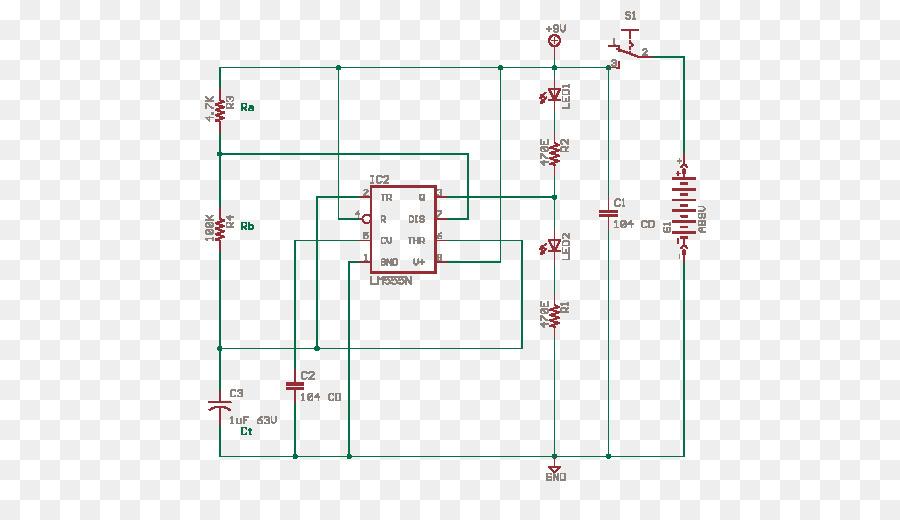 astable multivibrator 555 timer ic electronics electronic circuitsastable multivibrator 555 timer ic electronics electronic circuits png download 530*502 free transparent astable multivibrator png download