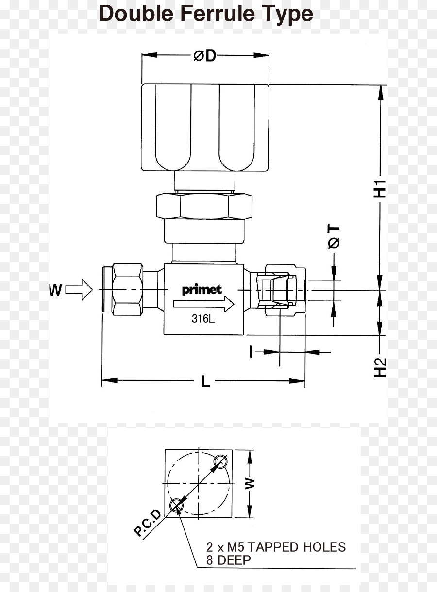 Technical drawing Gas Piping Diagram - dauble
