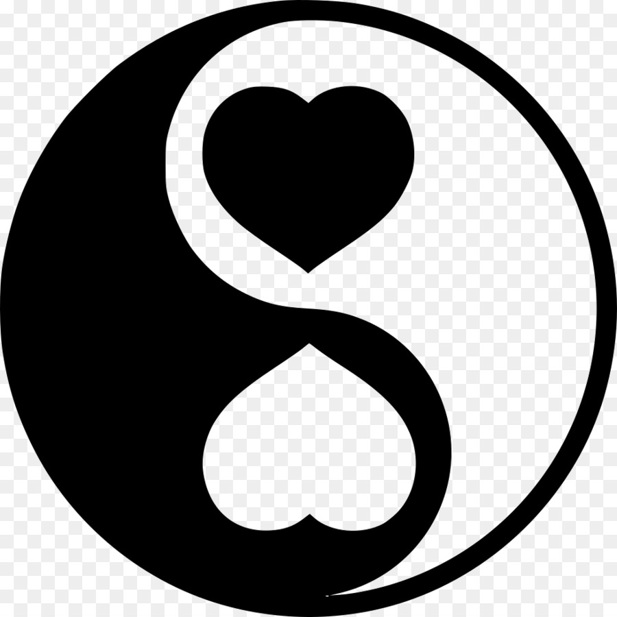 Yin And Yang Love Heart Symbol Valentines Day Love Chinese Png