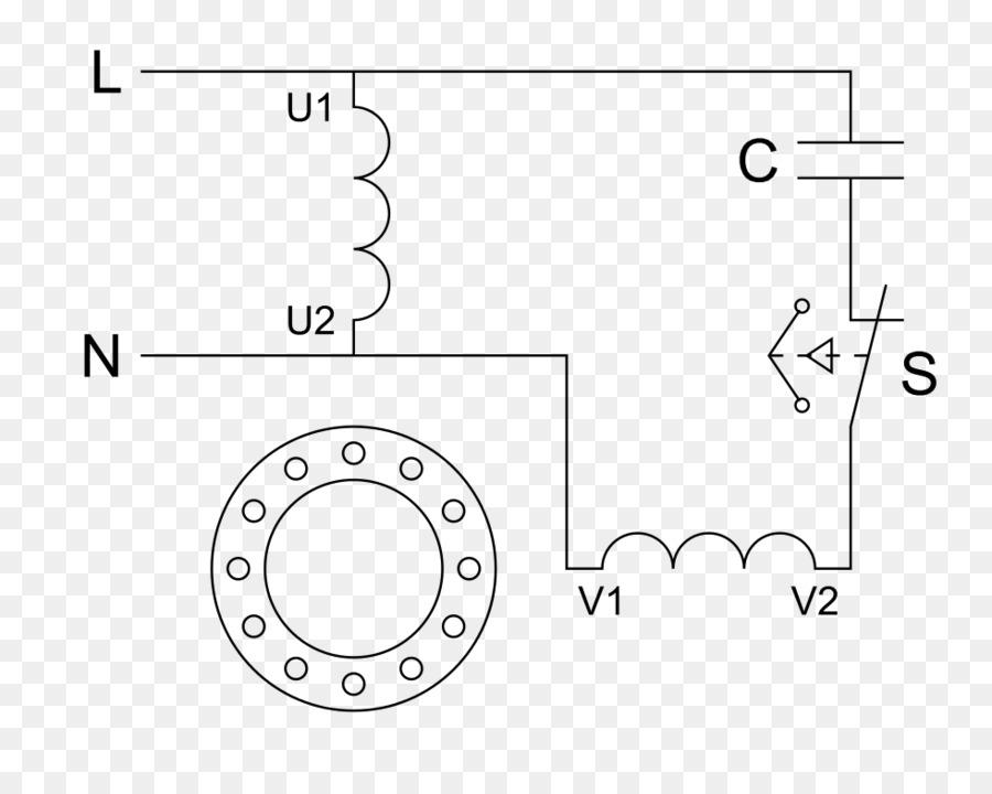 Electric motor Wiring diagram Motor capacitor - condenser lamp png ...