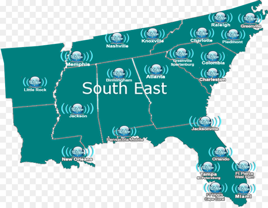 Atlanta Florida North South Carolina - others png download - 1000 ...
