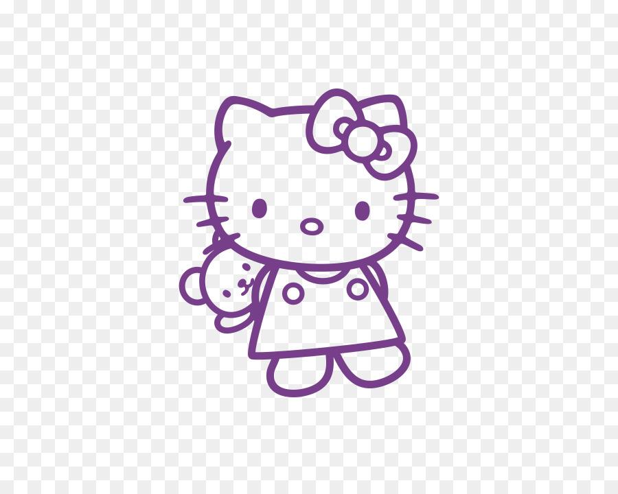 Hello Kitty Día de san Valentín Dibujo de libro para Colorear de ...