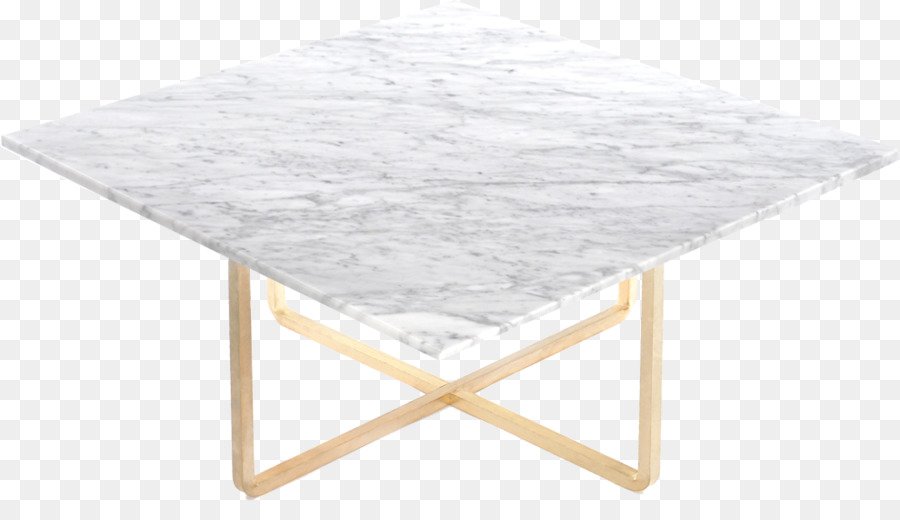 Coffee Tables Carrara Marble Brass Table Png Download - White carrara marble coffee table