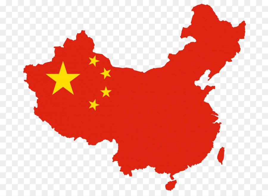Flag Of China Map