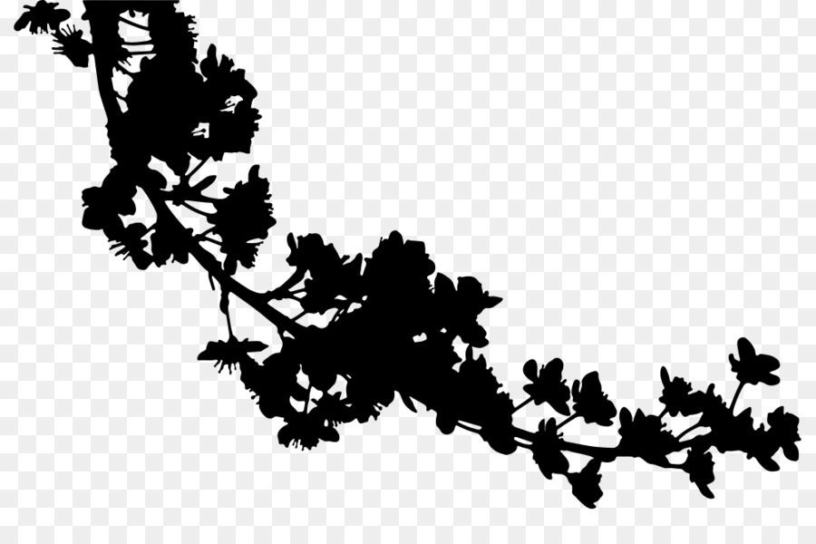 Silhouette Cherry Blossom
