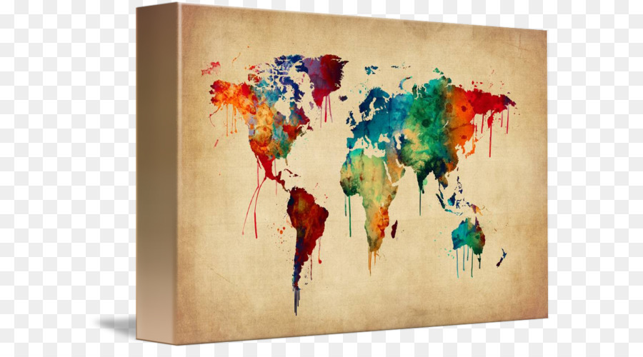 World map watercolor painting canvas print world map watercolour world map watercolor painting canvas print world map watercolour gumiabroncs Images