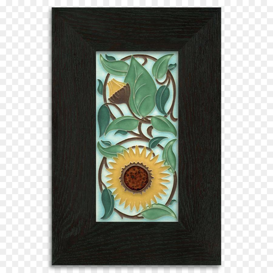 Picture Frames Tile Art Ceramic Framing Sunflower Watercolor Png