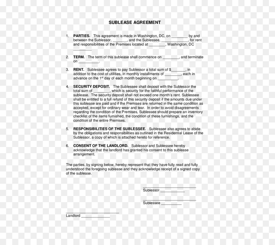 Rental Agreement Lease Contract Form Template House Png Download