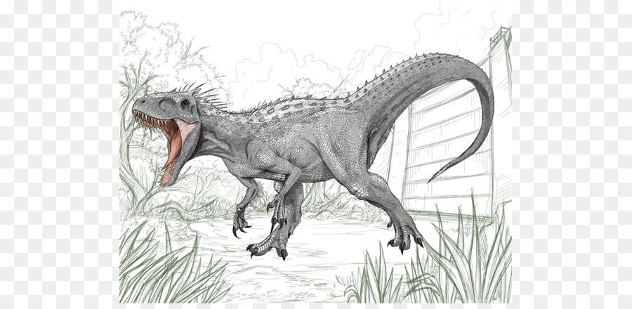 Tyrannosaurus Dibujo Indominus rex de Jurassic Park - indominus png ...
