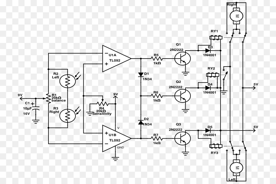 Schematic Technical drawing Diagram Diode Electronic circuit - robot ...