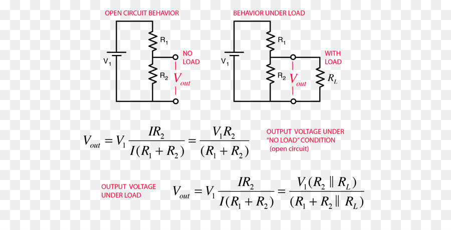 voltage divider electronic circuit current divider series and