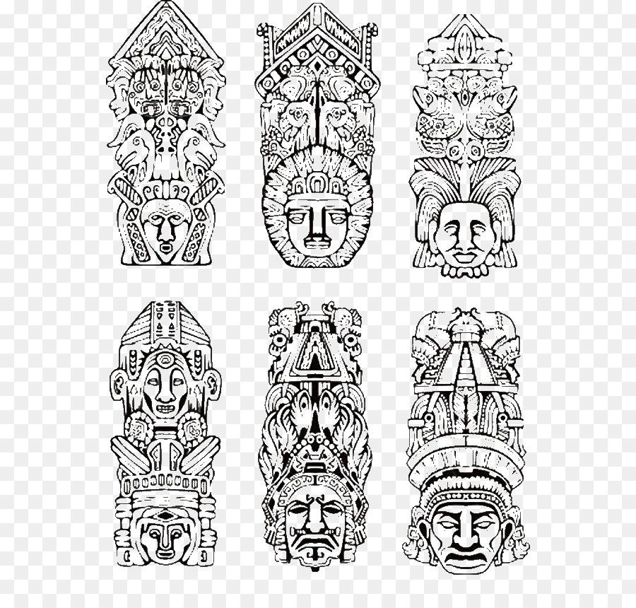 Tótem de los Nativos Americanos en los Estados unidos de artes ...