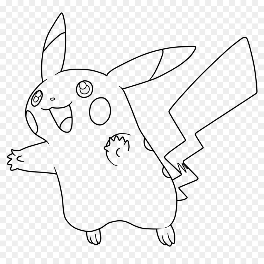 Pikachu Domestic Rabbit Ash Ketchum Coloring Book Pokemon GO