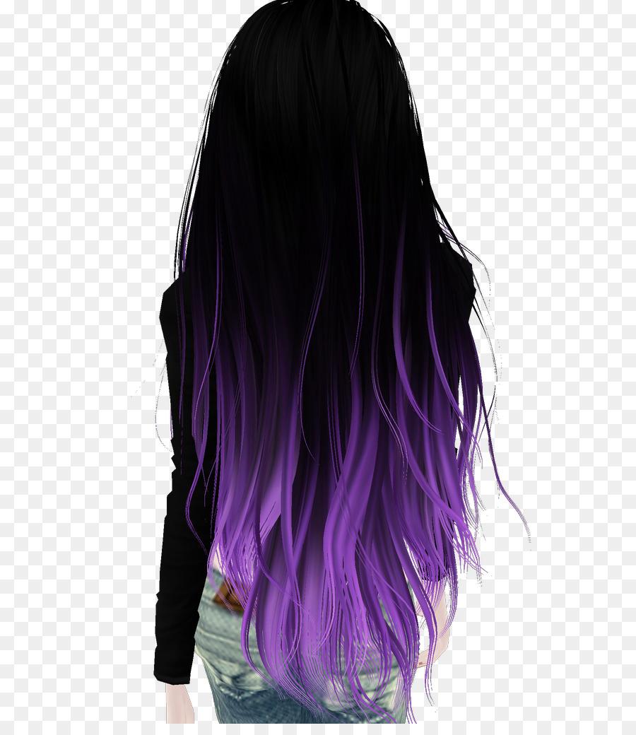Black Hair Hair Coloring Purple Brown Hair Hair Png Download 743