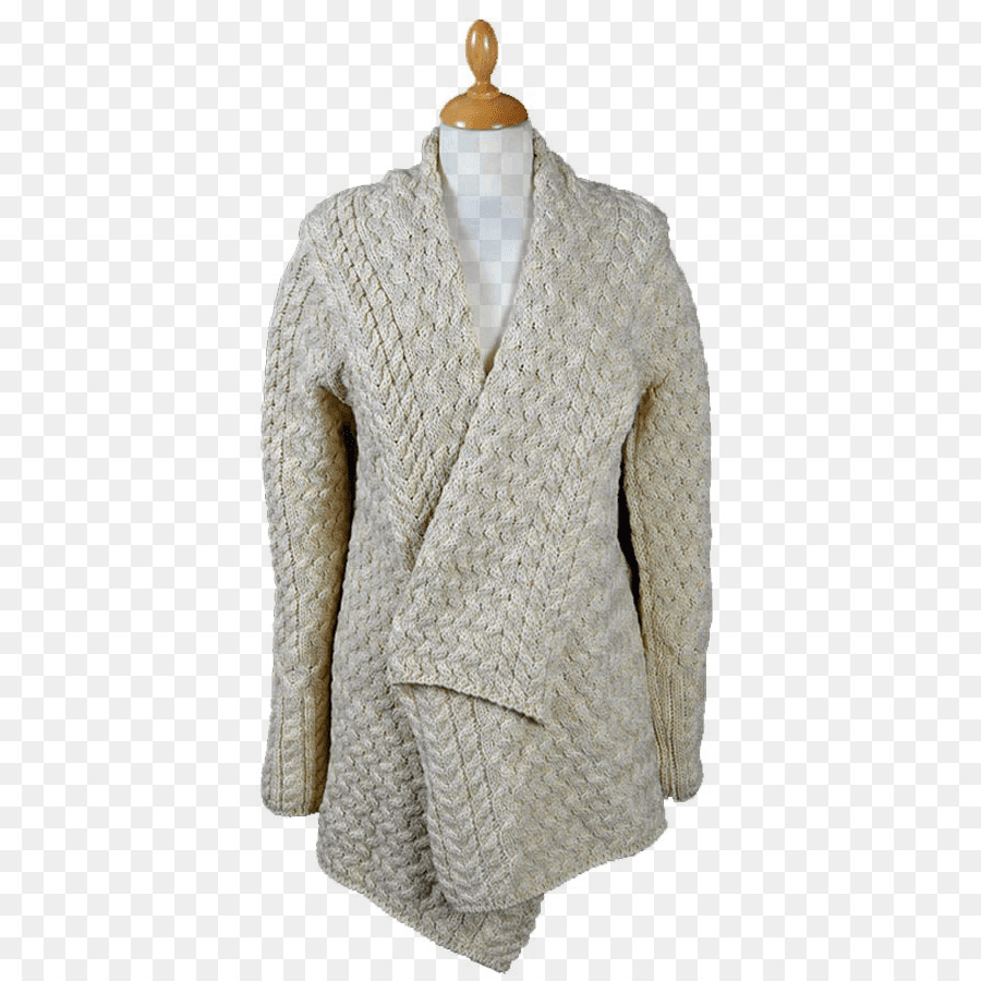 Cardigan Tejido De Punto De Ganchillo Simple Encogimiento De Hombros ...