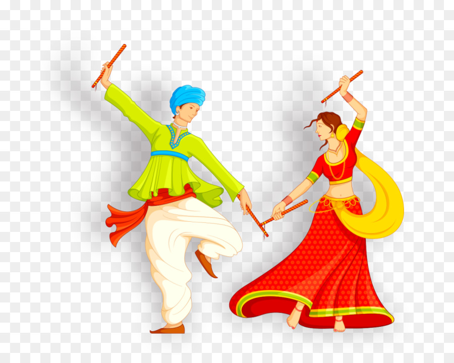 Dandiya Raas Garba Folk Dance Wedding Invitation Bridegroom Png