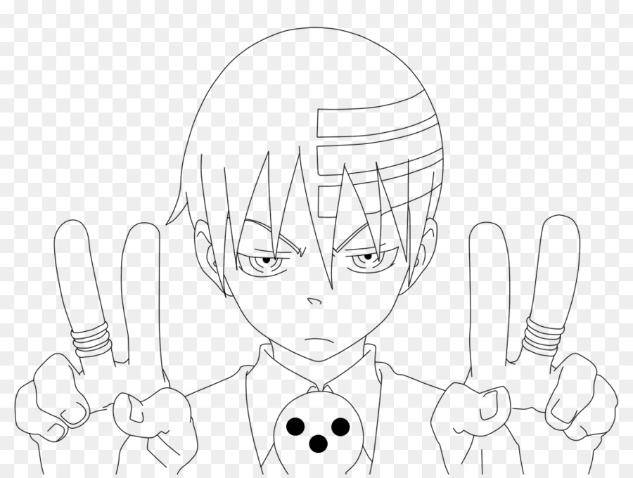 Death the Kid Soul Eater Art Sketch - soul eater png download - 1024 ...