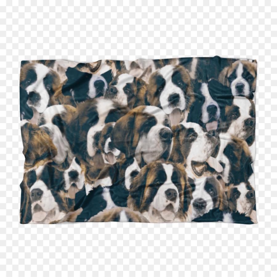 St. Bernard Dog breed Blanket New Orleans Saints Puppy - puppy png ...