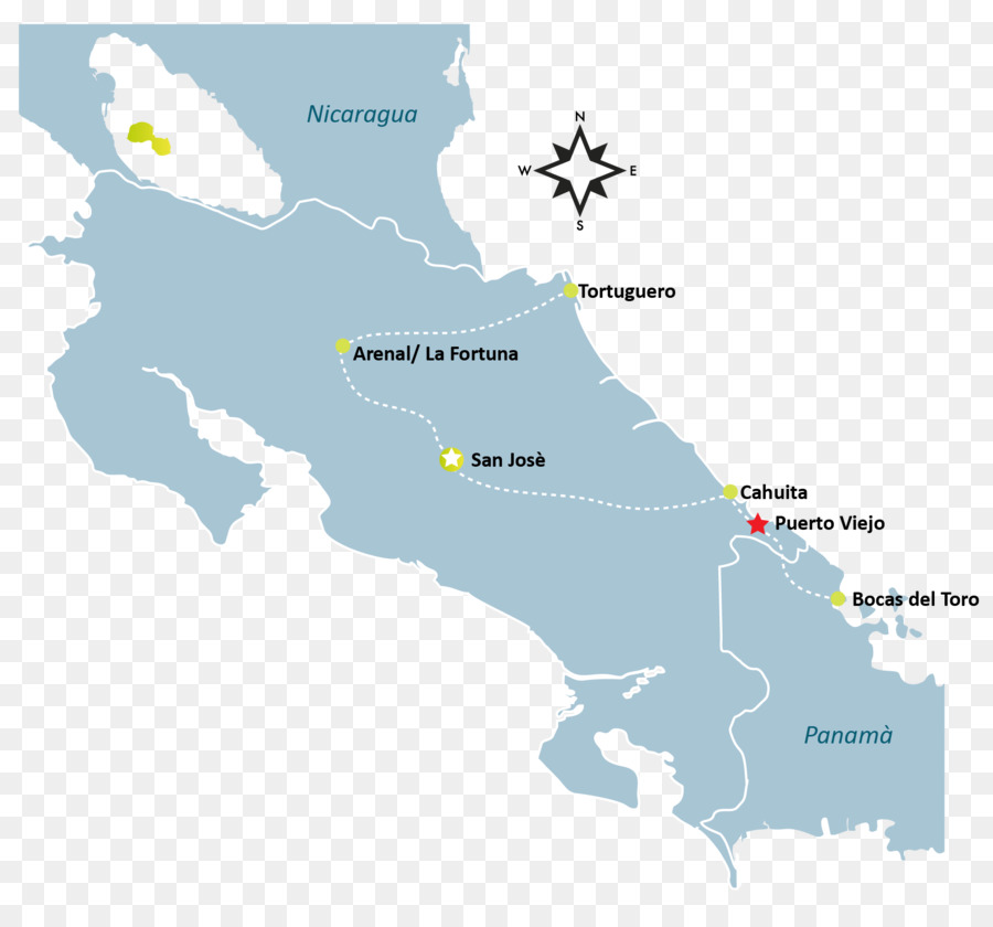 Costa Rica Vector Map - map png download - 1747*1602 - Free ...