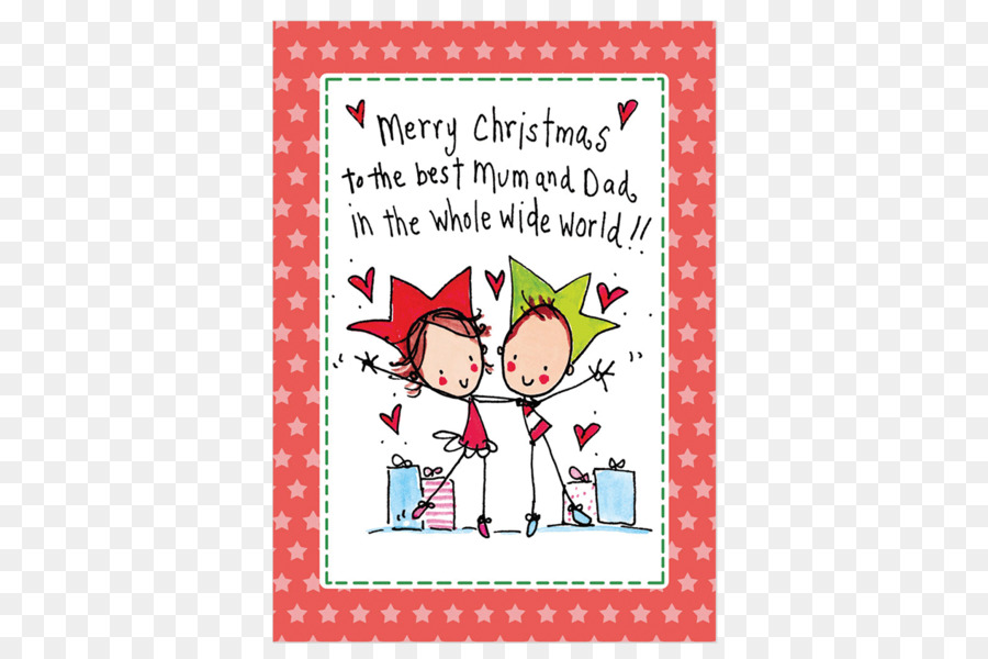 Christmas card Greeting & Note Cards Father Mother - mum and dad png ...