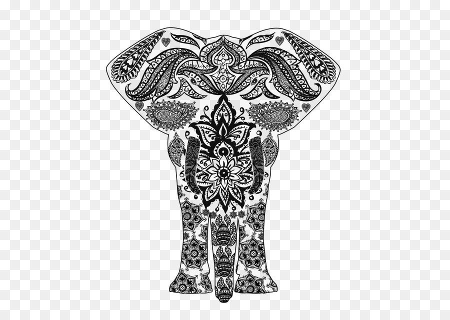 Mandala para Colorear libro de la Meditación - tailandia elefante ...