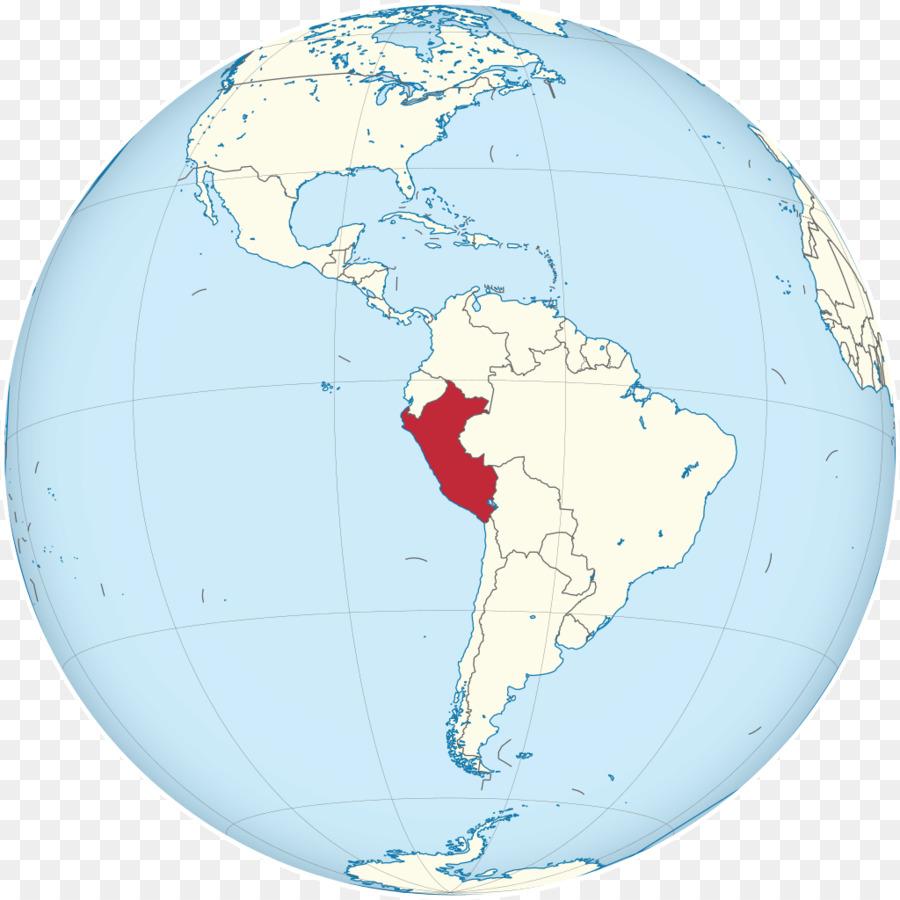 Peru World map Wikipedia Globe - Avocado salad png download - 1024 ...