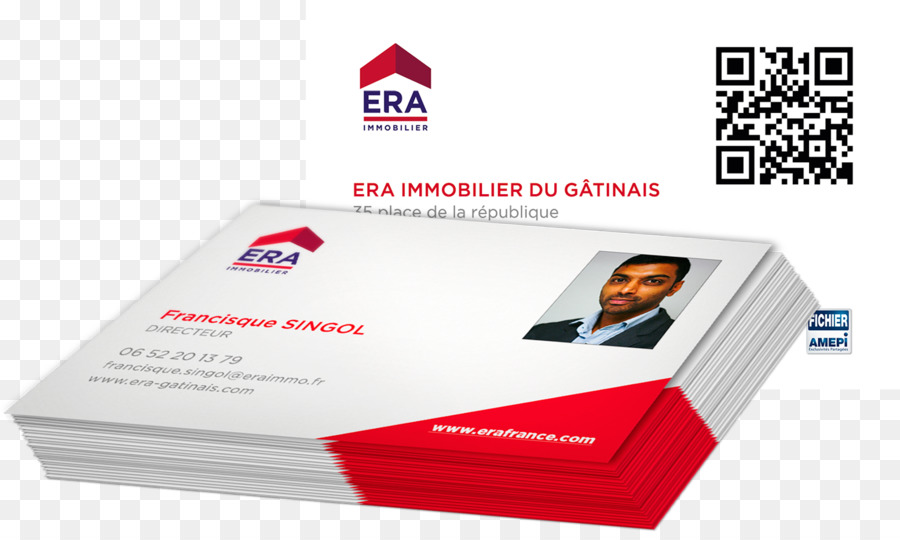 ERA Immobilier Du Gatinais MONTARGIS Business Cards Real Property Estate Agent