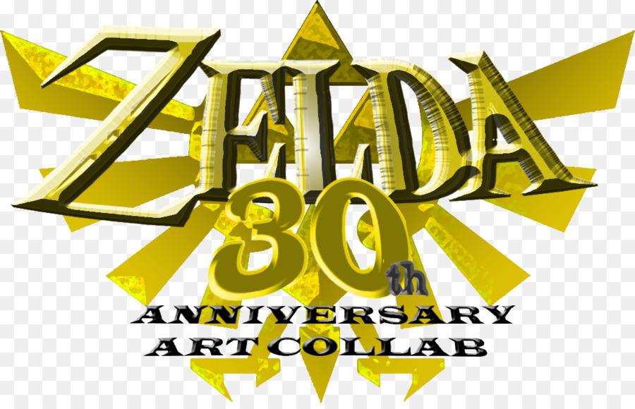 Logo Brand The Legend Of Zelda Font 30th Anniversary Png Download