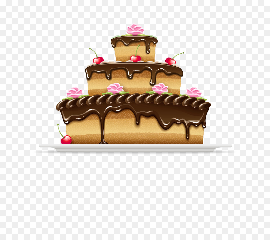 German Chocolate Cake Cream Cupcake Birthday Cake Banner Happy