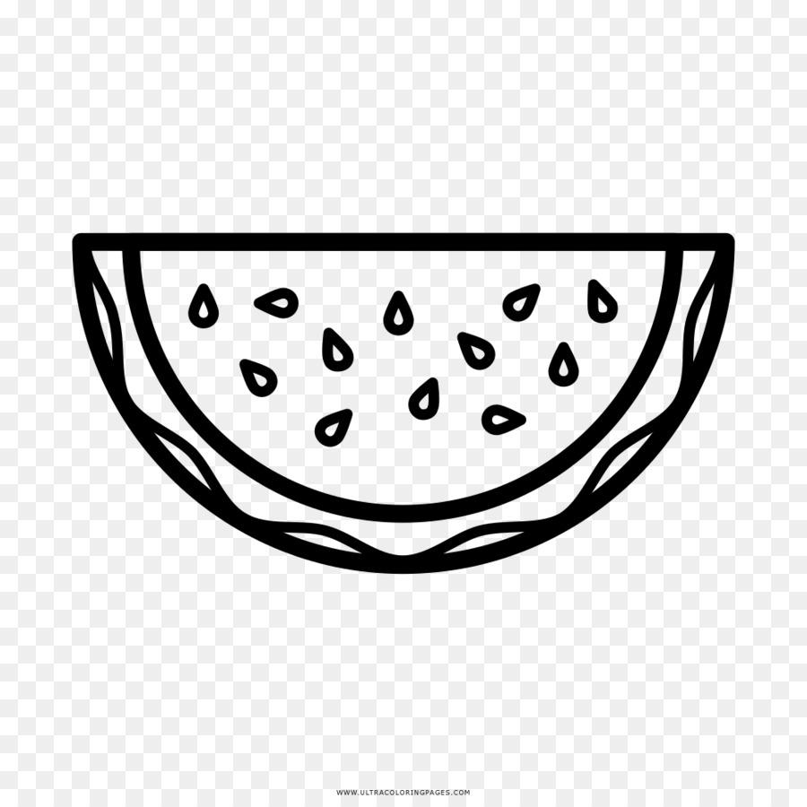 Buku Mewarnai Menggambar Line Art Semangka Air Melon Unduh Putih