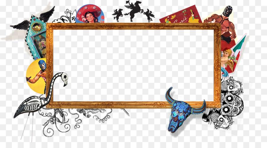 Picture Frames Flying banner Restaurant - funky border png download ...
