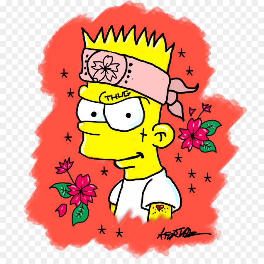 bart simpson desenho de gangues bart simpson transparente